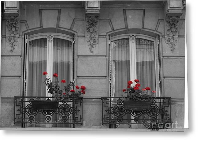 French Windows Greeting Card by Juli Scalzi