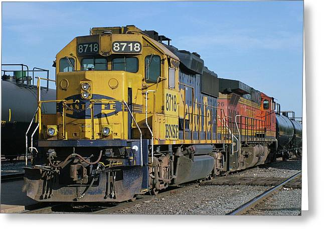 Diesel Locomotives Greeting Cards - Paired Up Greeting Card by Ken Smith