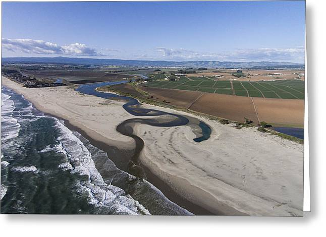 Pajaro River Mouth Greeting Card by David Levy