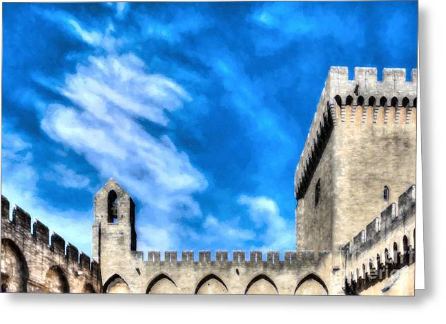 Palace Of The Popes In Avignon Greeting Card by Mel Steinhauer