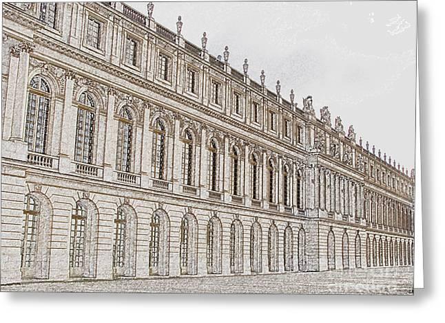 Royalty Digital Art Greeting Cards - Palace of Versailles Greeting Card by Amanda Barcon