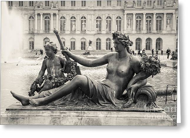 Statue Portrait Greeting Cards - Palace of Versailles Greeting Card by Marcin Rogozinski