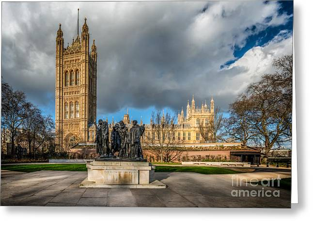 Palace Of Westminster Greeting Card by Adrian Evans