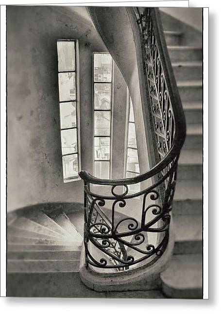Buenos Aires Gifts Greeting Cards - Palacio Barolo Stairs Buenos Aires Greeting Card by For Ninety One Days