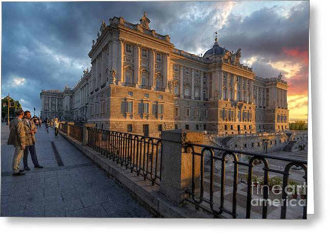 Palacio Real De Madrid Greeting Card by Yhun Suarez