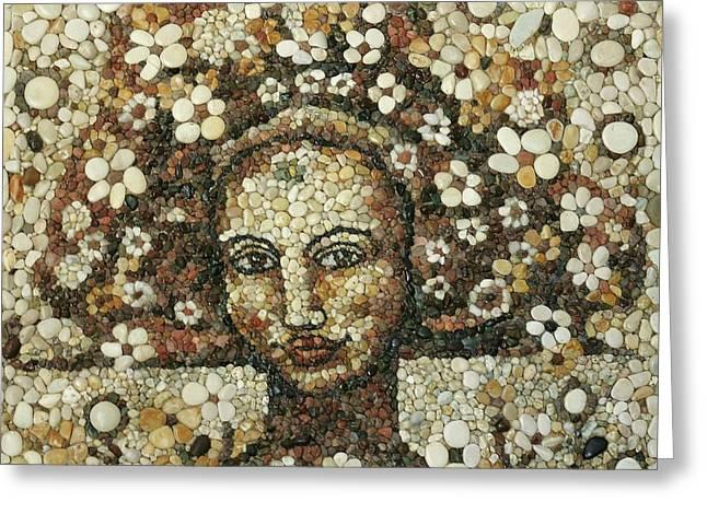 Mosaic Reliefs Greeting Cards - Palas Greeting Card by Dreja Novak