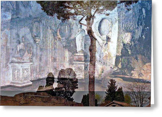 Mystic Art Greeting Cards - Palatine Hill Greeting Card by Mindy Newman