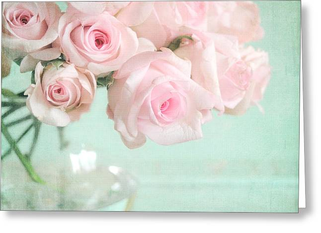 Pale Pink Greeting Cards - Pale Pink Roses Greeting Card by Lyn Randle