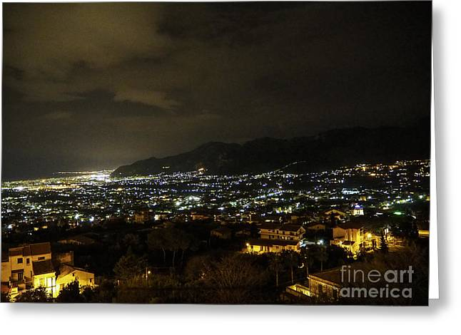 Palermo Dall'alto Greeting Card by Mirko Giannetti