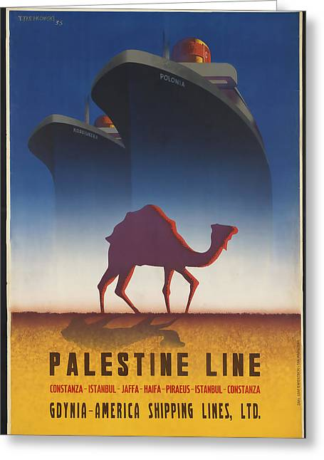 Istanbul Mixed Media Greeting Cards - Palestine Line Greeting Card by David Wagner