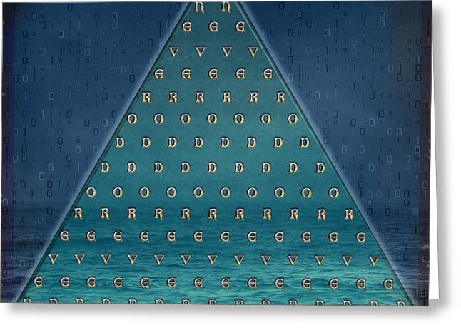 Palindrome Pyramid V1-enigmatic Greeting Card by Bedros Awak