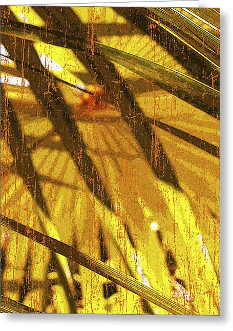 Mix Medium Mixed Media Greeting Cards - Palm B4 Greeting Card by Kaypee Soh - Printscapes