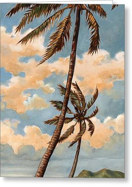 Coconut Palm Tree Greeting Cards - Palm Breeze I Greeting Card by Paul Brent