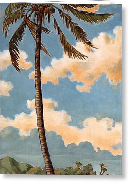 Coconut Palm Tree Greeting Cards - Palm Breeze II Greeting Card by Paul Brent