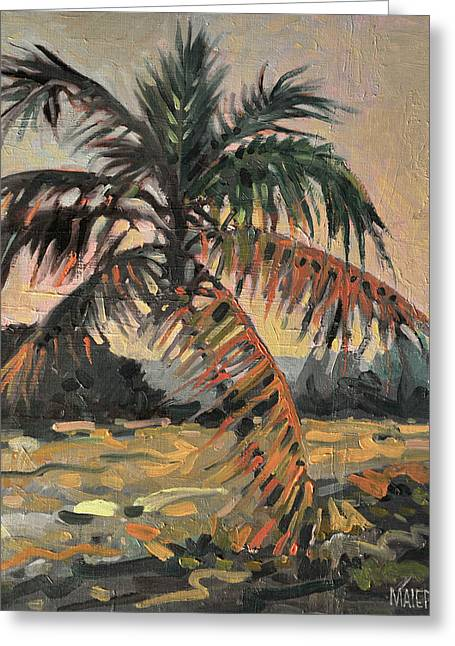 Coconut Palm Tree Greeting Cards - Palm Greeting Card by Donald Maier