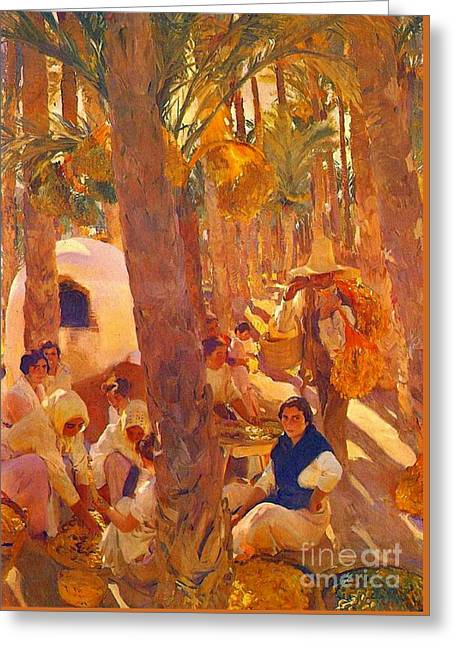 Harvest Art Greeting Cards - Palm Grove 1918 Greeting Card by Padre Art