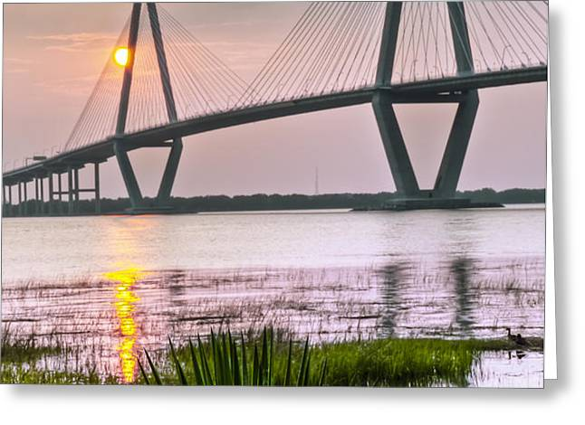 Palm Harbor Sunset - Charleston SC Greeting Card by Drew Castelhano
