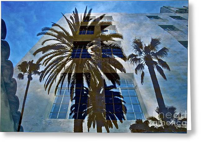 Palm Mural Greeting Card by Gwyn Newcombe