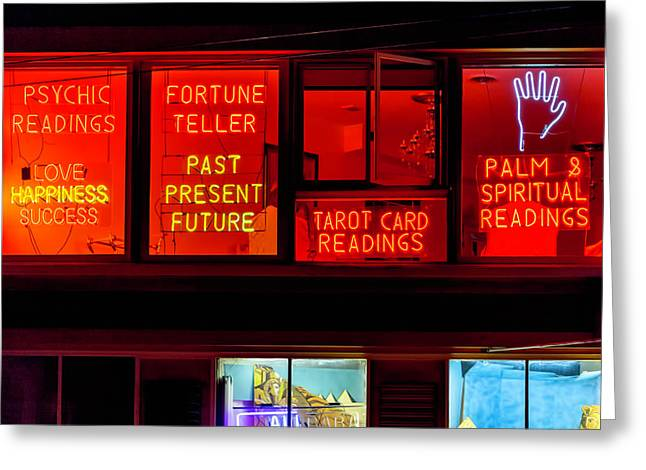 Palm Reading Windows Greeting Card by Garry Gay