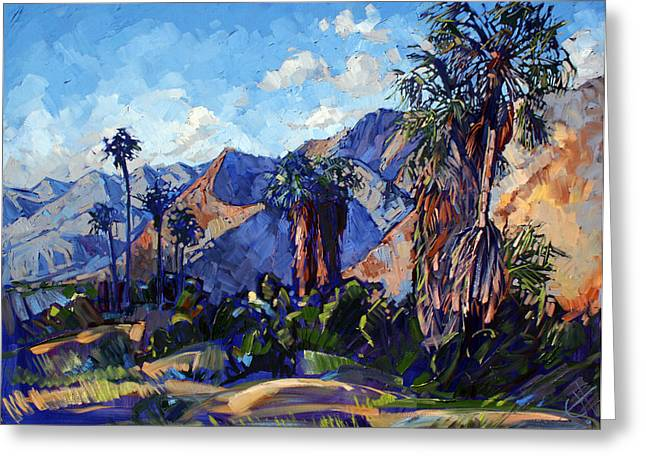 Erin Greeting Cards - Palm Shadows Greeting Card by Erin Hanson