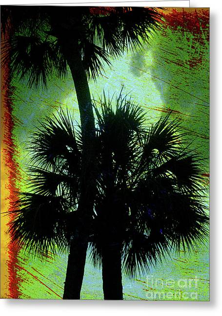 Best Sellers -  - Botanical Greeting Cards - Palm Silhouettes  Greeting Card by Susanne Van Hulst