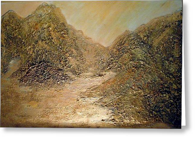 Mountain Valley Mixed Media Greeting Cards - Palm Springs Mountains Greeting Card by Sherri  Of Palm Springs