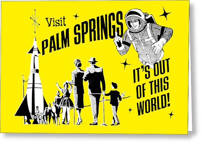 Palm Springs Yellow Greeting Card by Neo