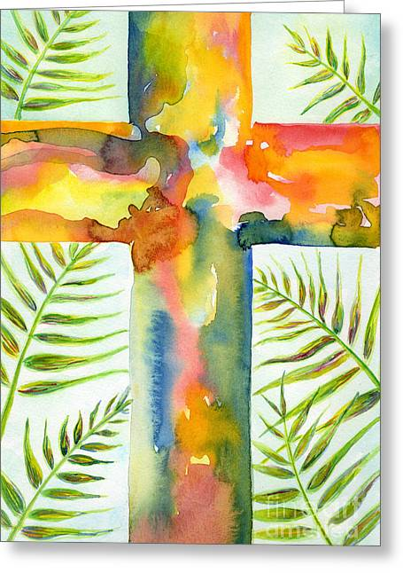 Lent Greeting Cards - Palm Sunday Greeting Card by Ruth Borges