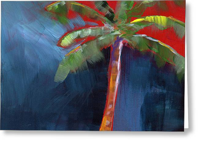Palms. Palm Trees Greeting Cards - Palm Tree- Art by Linda Woods Greeting Card by Linda Woods