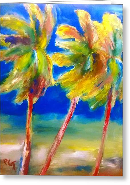 Palm Tree Color Greeting Card by Patricia Taylor