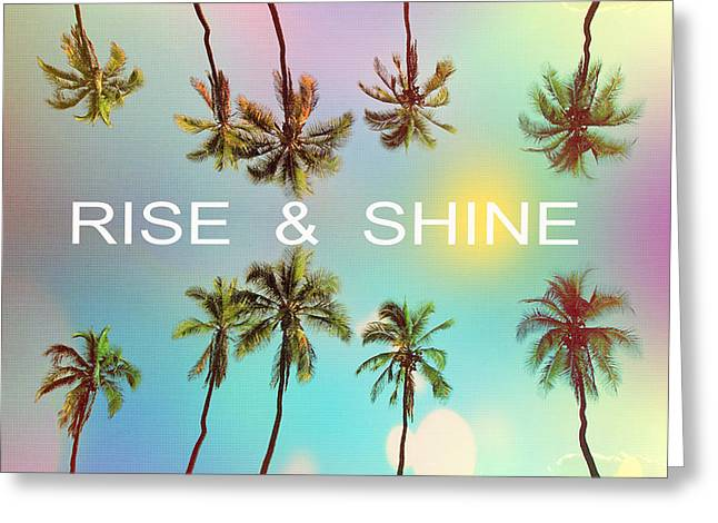 Palm Trees Greeting Card by Mark Ashkenazi