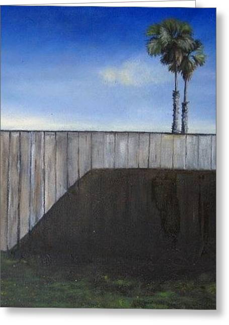 Ventura California Greeting Cards - Palm Trees Greeting Card by MaryEllen Frazee