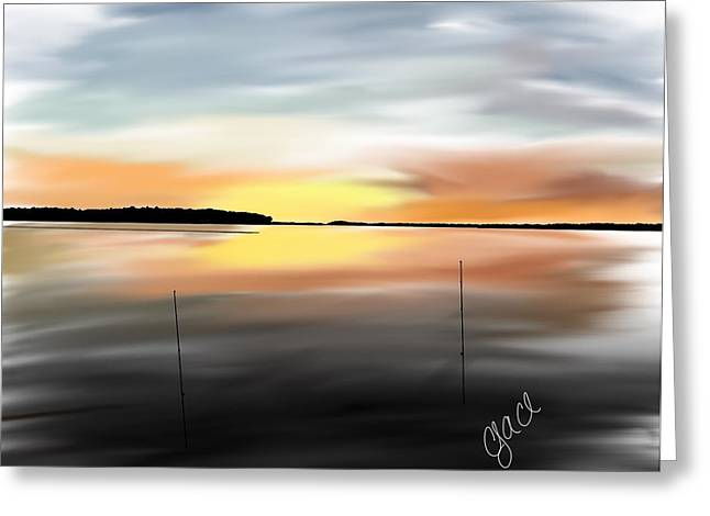 Sketchbook Digital Greeting Cards - Palmers Pointe Sunset Greeting Card by Cody Cole