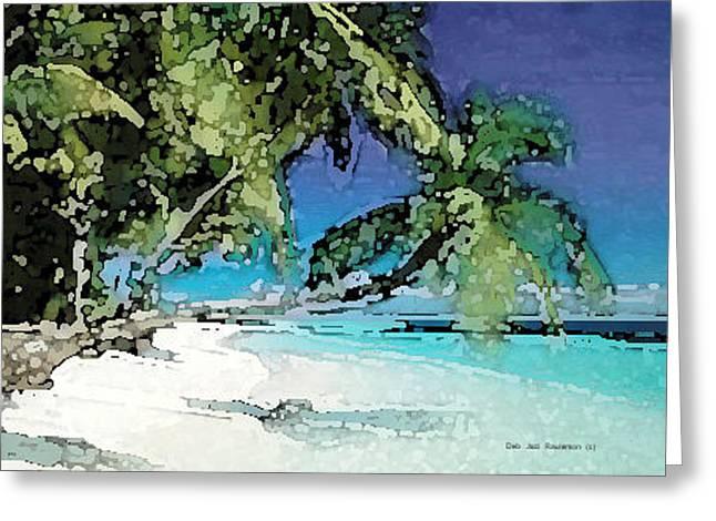 Palms Of The Destin Beach Greeting Card by Deb Jazi Raulerson
