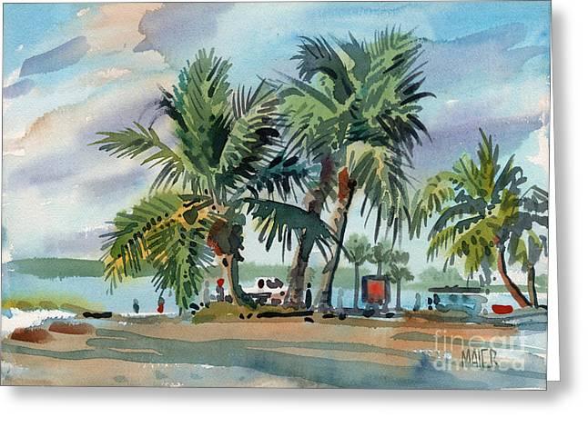 Sanibel Greeting Cards - Palms On Sanibel Greeting Card by Donald Maier