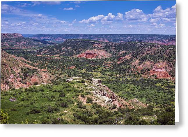 Layers Greeting Cards - Palo Duro Canyon Greeting Card by Joan Carroll