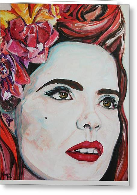British Celebrities Greeting Cards - Paloma Greeting Card by Christel  Roelandt