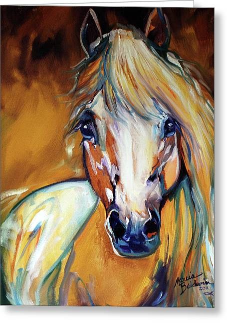 Palomino Wild Abstract Greeting Card by Marcia Baldwin