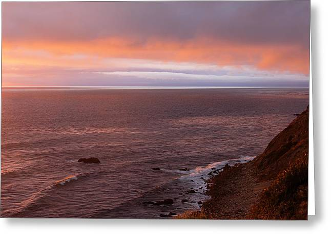 Palos Verdes Cove Greeting Cards - Palos Verdes at Sunset Greeting Card by Viktor Savchenko