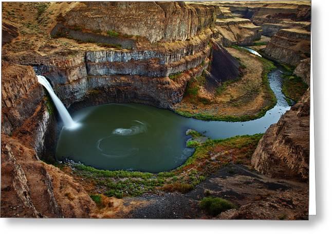 Palouse Falls Greeting Card by Darren White