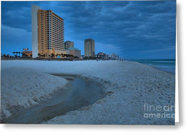 Panama City Beach Greeting Cards - Panama City Beach At Dusk Greeting Card by Adam Jewell