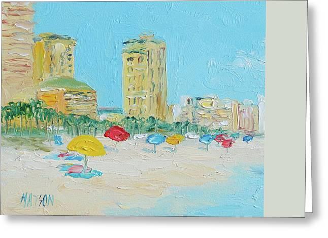Surf City Greeting Cards - Panama City Beach Painting Greeting Card by Jan Matson