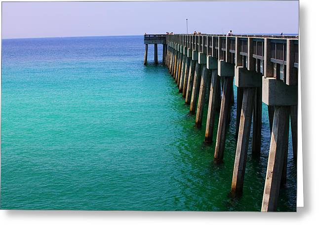 Panama City Greeting Cards - Panama City Beach pier Greeting Card by Toni Hopper