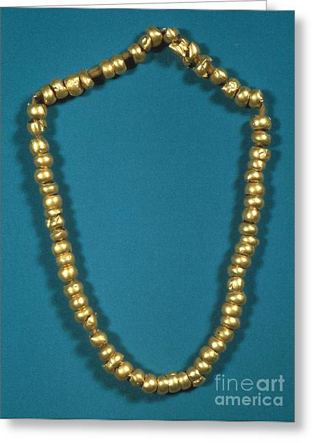 Panama: Gold Beads, C1000 Greeting Card by Granger