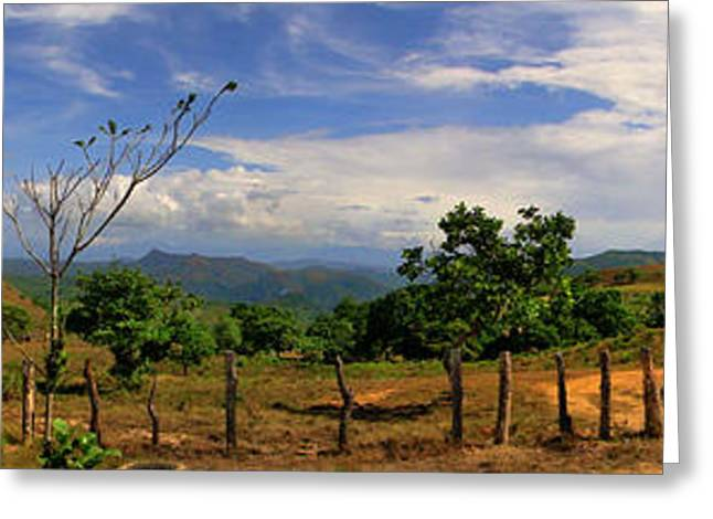 Al Central Greeting Cards - Panama Panorama Greeting Card by Al Bourassa