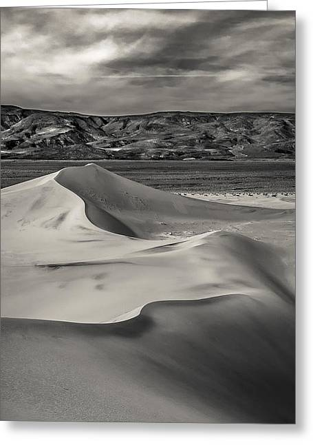 Panamint Valley Greeting Cards -  Dunes Greeting Card by Steve Spiliotopoulos
