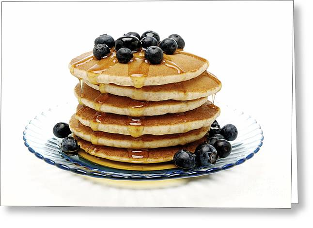 Pancakes Greeting Card by Glennis Siverson