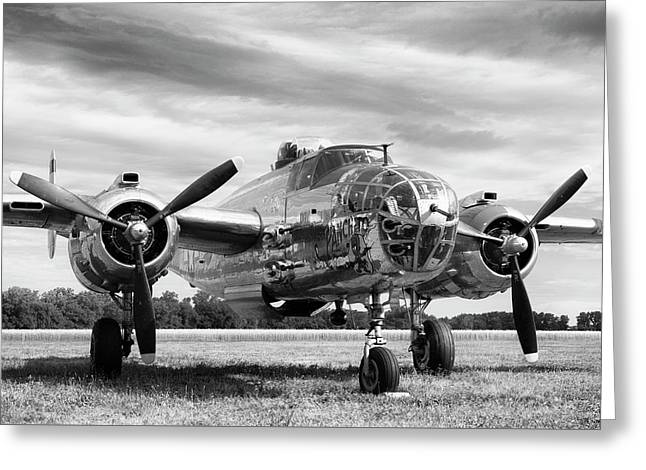 Panchito B-25 Greeting Card by Peter Chilelli