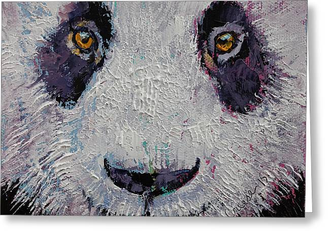 Giant Panda Greeting Cards - Panda Greeting Card by Michael Creese