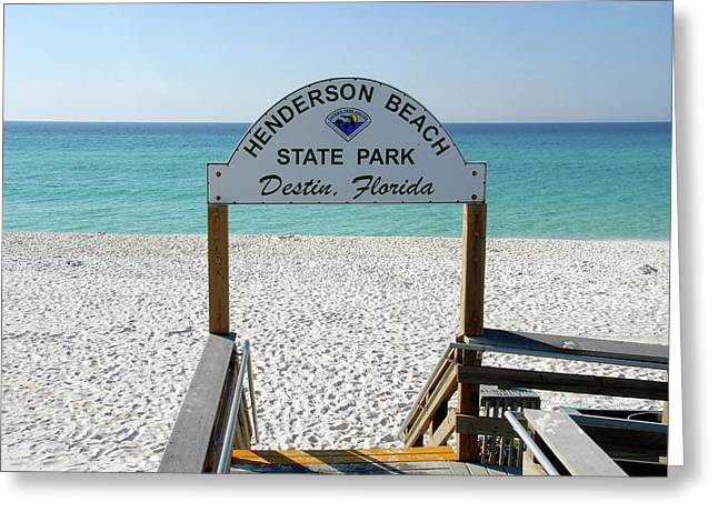 Ocean Art Photography Greeting Cards - Panhandle Jewel Greeting Card by David Lee Thompson